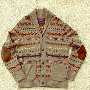 Tommy Hilfiger Lambswool Sweater Cardigan Brown